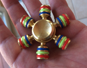 SOLID BRASS WITH RAINBOW COLOR FIDGET SPINNER