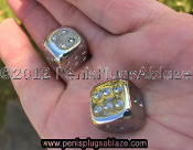 SOLID HAND CRAFTED STAINLESS STEEL DICE SET
