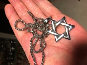 STAR OF DAVID SOLID STAINLESS CHARM AND NECKLACE